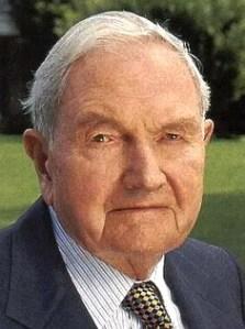 David Rockefeller, banquero estadounidense (Club Bilderberg)